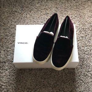 Vince Blair-12 Oxblood Slip On Sneakers (Sz 6.5)